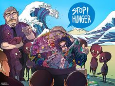 STOP HUNGER by Sakiroo Choi, via Behance