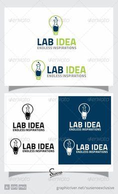 LAB IDEA LOGO — Vector EPS #logo #lab • Available here → https://graphicriver.net/item/lab-idea-logo/4404790?ref=pxcr