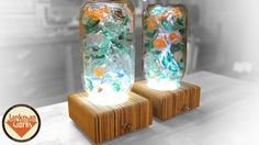 Upcycled Glass Lamps 2.0