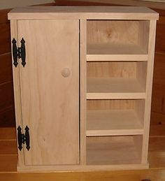 Handmade Wardrobe With Shelves For 18 Inch Doll