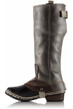 """This timeless waterproof, insulated PAC boot channels the classic style of an equestrian riding boot while keeping feet dry and warm in inclement weather. Ideal for everyday wear, the full-grained leather upper and iconic rubber shell create a protective foot environment while the molded EVA footbed and integrated arch support provide lasting comfort. Micro fleece lining with 100g insulation. Microfleece topcover.    Measures: 15 1/2"""" shaft height; 1 1/4"""" heel height; 15 3/4 calf…"""