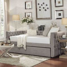 Check these 33 best bed headboard ideas out! There's more of these and plenty other outstanding ideas at glamshelf.com #homedesignideas #bedroomgoals #bedroomdecor