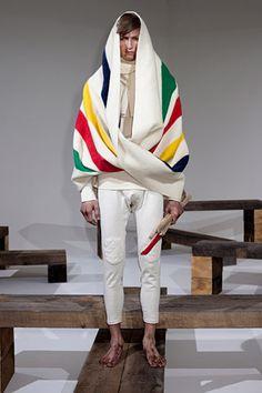 #John Bartlett #fw2012 #stripes #graphic #padding
