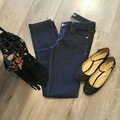 """Express Stella Skinny Jeans I am selling a gorgeous pair of dark wash, skinny jeans by Express.  These are the """"Stella-Low Rise"""" fit size 8.  This particular pair is very snug for an 8 with a 33"""" inseam and a 7.75"""" rise.  Never been worn in perfect condition!!! Express Jeans Skinny"""
