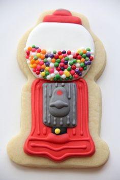 Gumball Machine Sugar Cookies - via Cookie Confectionery