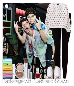"""""""Bacstage with Nash and Shawn"""" by irish26-1 ❤ liked on Polyvore featuring Casetify, MANGO, Converse, PurMinerals, NARS Cosmetics, Topshop and River Island"""