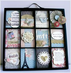 Printers Tray with MFT Stamps Die-namics & Stamps along with Glitz Design Beautiful Dreamer Patterned Paper