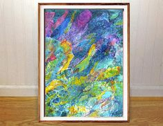 Ocean fish wall art print abstract art underwater scuba art