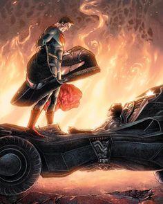 DC Comics Green Arrow Batman v. Superman Variant by Aaron Kuder & Tomeu Batman Vs Superman, Poster Superman, Posters Batman, Superman Dawn Of Justice, Batman Art, Arte Dc Comics, Dc Comics Art, Ms Marvel, Captain Marvel