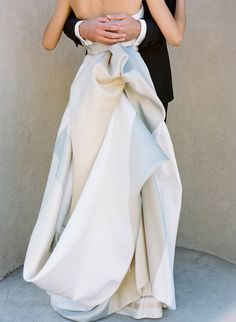 { gorgeous draping on this gown }