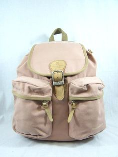 rose colored canvas backpack