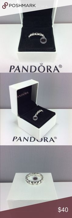 Pandora Silver And Black Cubic Zirconia Ice Ring Authentic Pandora Retired Black Zirconia Ice Ring  Pandora Charms. Pandora New Charms. Pandora Retired Charms. Pandora Bracelets.  Signature markings Ale S925  Condition: Gently used   Retail: Market   🔵PRICE IS FIRM UNLESS BUNDLED  ⚫️NOT ACCEPTING LOWBALL OFFERS!!! 📦BOX INCLUDED IN THE SALE Pandora Jewelry Rings