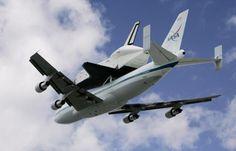 Vintage April 27, 2012, Space Shuttle Enterprise arrives at JFK Airport, NYC