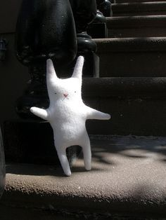 Perfect Bunny in NYC by the workroom, via Flickr http://www.flickr.com/photos/theworkroom/sets/72157607113385020/#