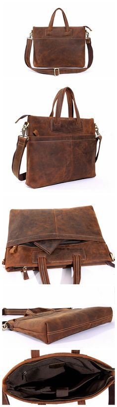 512f0a3aa6 VINTAGE HANDMADE TOP GRAIN LEATHER MENS HANDBAG LAPTOP BRIEFCASE MESSENGER  SHOULDER BAG Mens Leather Laptop Bag