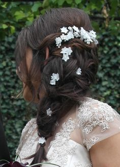 braided half up for a Bride Bridal Braids, Bridal Hair, Bride Hairstyles, Cool Hairstyles, Wedding Hairdressers, Braided Half Up, Civil Ceremony, On Your Wedding Day, Long Hair Styles