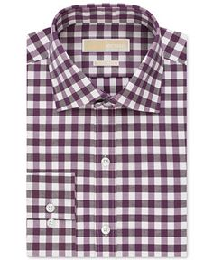 MICHAEL Michael Kors Non-Iron Bold Gingham Dress Shirt - Dress Shirts - Men - Macy's
