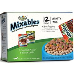 Variety 00076 12/3-Ounce Mixables Poultry Lovers Natural Dog Food, Includes 6-Cape Cod Picnic and 6-Tuscan Grille, 2-Pack ~ You can click image to review more details. (This is an affiliate link and I receive a commission for the sales)