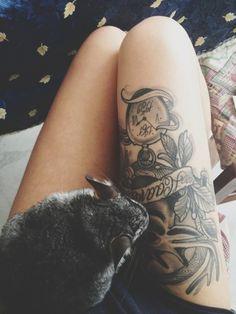 Little rabbit + tattoo.