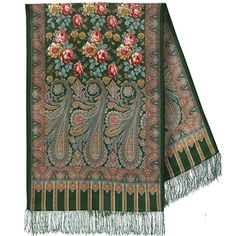 Find authentic Russian shawls from high quality wool at best prices on RusClothing. Russian wool scarf is original. Made in Russia, shipped worldwide. Paisley, Pride And Glory, Local Color, Kerchief, Shawl Patterns, High Art, Russian Art, Wool Scarf, Women Accessories