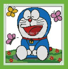 cross stitch doraemon - Google Search