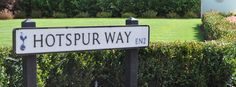 The lane sign at the entrance of the Training Centre located on Hotspur Way | Tottenham Hotspur Football Club