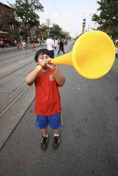 """All About the South African Vuvuzela. And how to make your own version at home!  From """"Making Multicultural Music""""."""