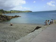 BEACH AT BOTTOM OF GARDEN,TREBAH,Cornwall