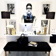 glam office, home office
