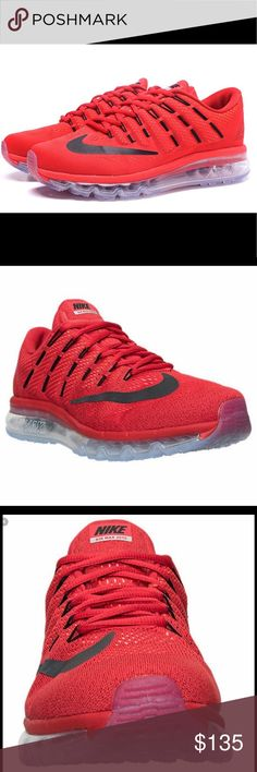 💥Nike Air Max 2016 Men's Running Shoes💥 Iconic style for the ages combines with proven cushioning in the newest version of this trusted running shoe. Breathable mesh upper with Flywire cables integrated through the laces for lockdown and support. Full-length Max Air unit for the iconic cushioning you trust. Flex grooves create a more flexible stride. Clear rubber Waffle-pattern outsole for traction on any surface. Wt. 13.2 oz. Nike Shoes Athletic Shoes