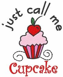 Concord Collections Free Embroidery Design: Just Call Me Cupcake 3.68 inches H x 2.95 inches W