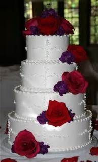 purple and red wedding cake - Bing Images