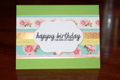 Handmade Birthday Card Embossed and Crafted Orange/Blank Inside/Free Shipping by TresorValeur on Etsy