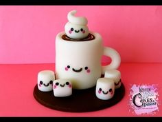 How To Make A Hot Chocolate Cupcake Topper - Tutorial