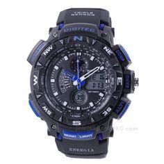 jam tangan Digitec ENERGIA DG-2044T Black Blue