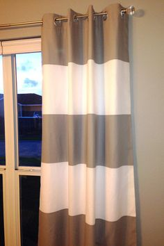 Horizontal striped curtains on pinterest ikea curtains striped