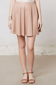 Astral swing skirt. {anthropologie} Love this. pick all 3 colors - nude, mauve and wine.