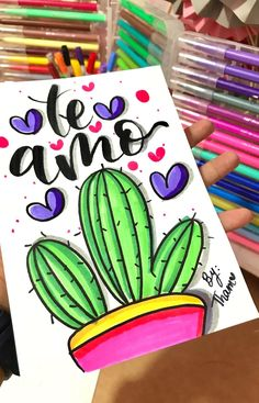 Bullet Journal Banner, Bullet Journal Ideas Pages, Bellet Journal, Diy And Crafts, Paper Crafts, Drawing Journal, Cactus Art, Lettering Tutorial, School Notes