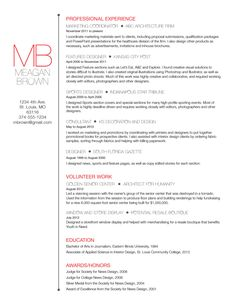 Custom resume and cover letter template - Big initials. $45.00, via Etsy.