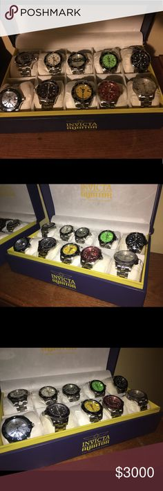 Invictus Grand Diver Automatic Collection... 20 💥💥💥 My  Prize Collection of Invicta Grand Divers 20 total..... Truly for the lazy collector.....Not available with Bundle...💥💥💥 Invicta Accessories Watches