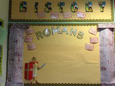 Class Displays, School Displays, Classroom Displays, Classroom Themes, Romans For Kids, Romans Ks2, Display Boards, Year 6, Polar Bear