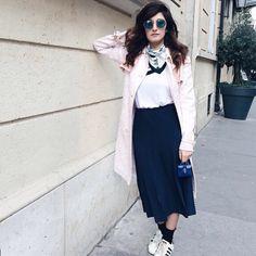 Valentina Siragusa. #ITGirl  www.yohanasant.es Asesora de Imagen & Personal Shopper en Asturias #Asesoradeimagen #Personalshopper #YohanaSant #Look #AsesoradeimagenAsturias #PersonalShopperAsturias #Culottes #Look #Adidas #SuperStar