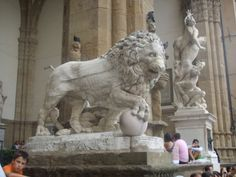 "Loggia dei Lanzi ""The might Lion"""