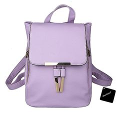 ac5ccf543da4 xhorizon TM FL1 Leather Casual Purse School Backpack Shoulder Bag Mini  Backpack Review