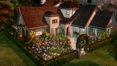 A cottage for my Sim who really likes plants :) Sims 4 House Plans, Sims 4 House Building, Sims 4 Collections, Sims 4 House Design, Casas The Sims 4, Sims4 Clothes, Sims 4 Toddler, Sims 4 Cc Furniture, Sims 4 Build