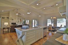 Open Floorplan Kitchen & Living Room by Stonebridge Design + Build