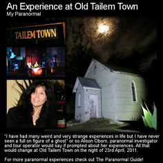 An Experience at Old Tailem Town. Have a read of this rather intriguin experience at this rather creepy location. Head to this link for the full article: http://www.theparanormalguide.com/1/post/2013/02/an-experience-at-old-tailem-town.html