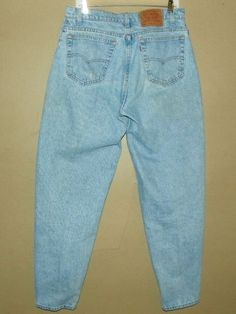 Mens 34 X 32 Levis Vintage 560 Loose Fit Tapered Leg ~Stonewashed~ Blue Jeans #Levis #LooseFitTaperedLeg