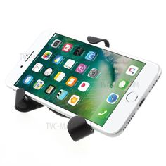 Triangle Shape Universal Gravity Car Air Vent Mount Car Phone Holder for iPhone Samsung Huawei Etc - Black-4