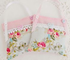Cottage Chic Lavender Drawer sachets by picocrafts on Etsy